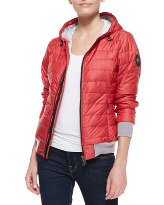 Sydney Hooded Puffer Jacket, Red
