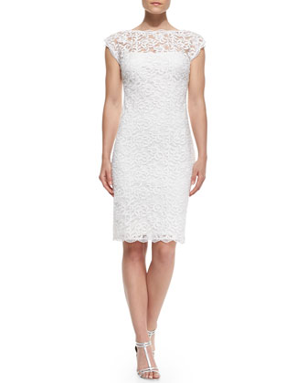 Low-Back Embroidered Lace Dress