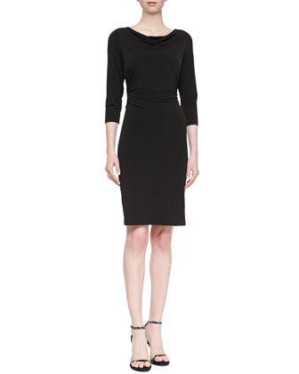 3/4-Sleeve Jersey Dress