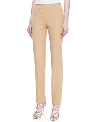 Stretch Twill Pants, Beige