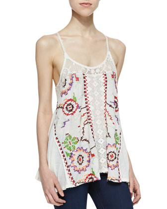 Reese Embroidered Tunic Top