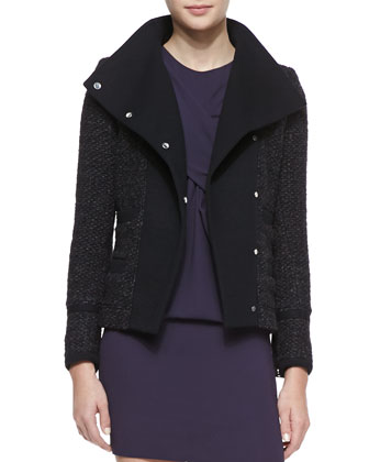 Cydney Widespread Collar Jacket, Black