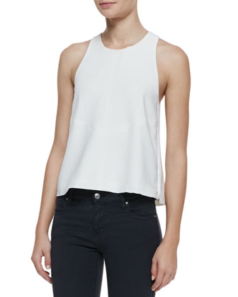 Cherie Sleeveless Loose Side-Zip Top