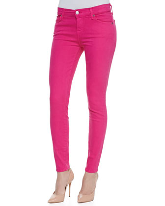 Slim Illusion Skinny Jeans, Hot Pink