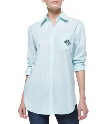 Monogram Striped Oxford Fitted Shirt