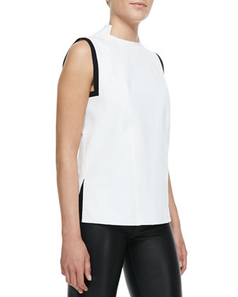 Ravel Tipped Sleeveless Blouse