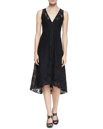 Flamenco Lace Arch-Hem Dress