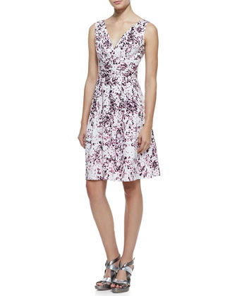 Shimmy Floral-Print Sleeveless Dress