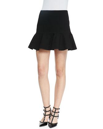 Volant Knit Flounce Skirt