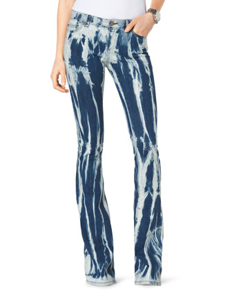 Tie-Dye Flared Jeans