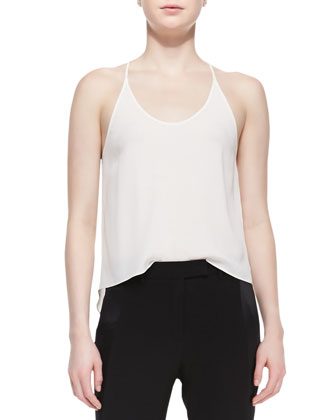 High-Low Stretch Racerback Tank