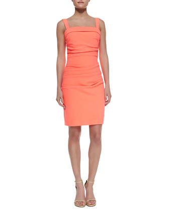 Sheath Dress with Shoulder Straps
