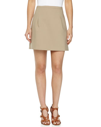 Double-Face Stretch Skirt, Hemp