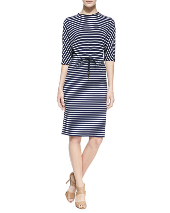 Nautical Striped Jersey Dress