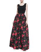 Rose Faille Ball Skirt