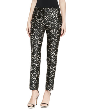 Samantha Lace-Print Pants