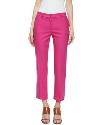 Samantha Cropped Skinny Pants, Begonia