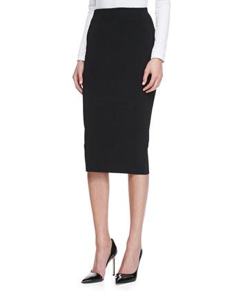 Knit Tube Skirt, Black
