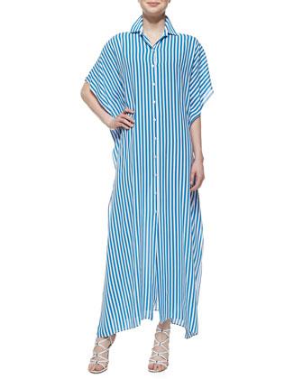 Georgette Striped Kimono Caftan