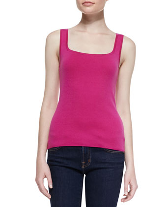 Super Cashmere Square Shell Top, Begonia