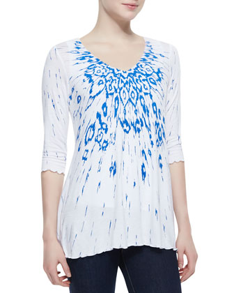 Vera V-Neck Water World Top