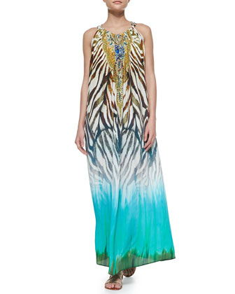 Camilla Printed Tie-Dye Coverup Dress