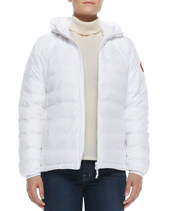 Camp Hooded Puffer Jacket, White
