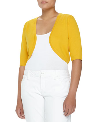 Short-Sleeve Merino Shrug, Sun, Women's