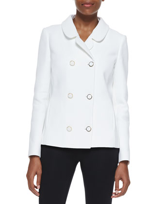 Cotton Broadcloth Double-Breasted Jacket