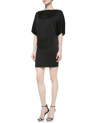 Charmeuse Bateau Shift Dress