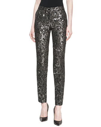 Samantha Brocade Skinny Pants