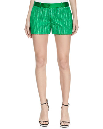Duchesse Palette Mini Shorts, Palm