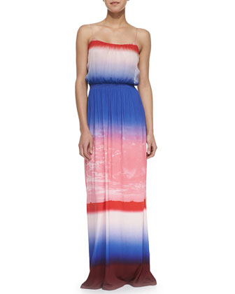 Ombre Silk & Jersey Maxi Dress