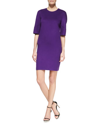 Double-Face Shift Dress, Grape
