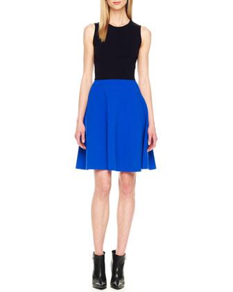Two-Tone A-Line Dress