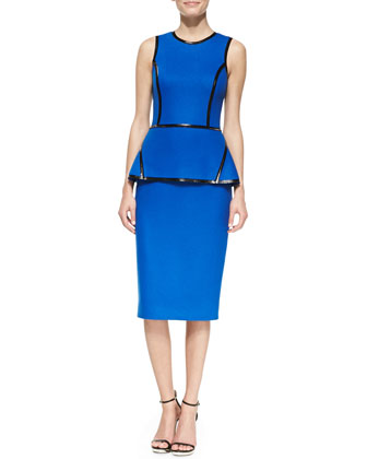 Taped Peplum Sheath Dress