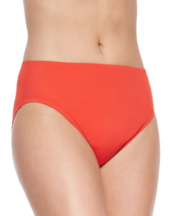 Lattice High-Waist Swim Bottom