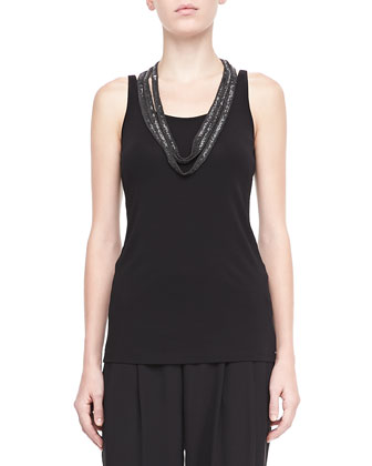 Silk Crepe de Chine Tank, Silk Jersey Long Slim Camisole & Washable ...