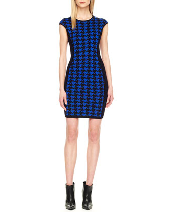 Houndstooth Sheath Dress
