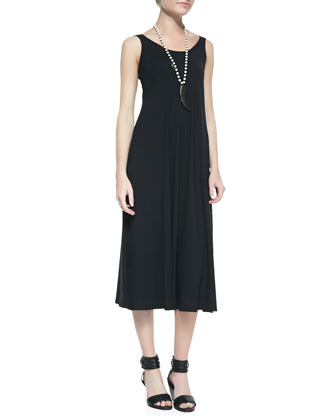 Organic Cotton/Linen Melange Cropped Top & Viscose Jersey Midi Dress