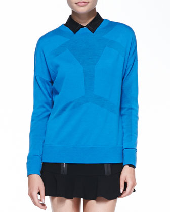 Android Merino Seamed Sweater, Buttoned Leather-Collar Shirt & Zip-Detail ...