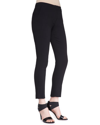Slim Cropped Crepe Pants