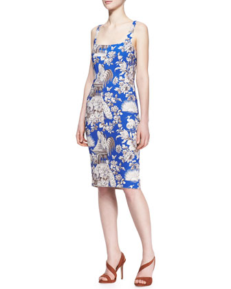 Cady Toile Sleeveless Fitted Dress