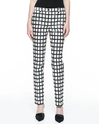 Samantha Ikat Duchesse Skinny Pants