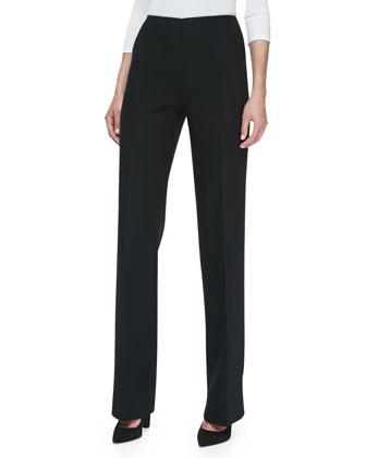 High-Waist Wool Trousers