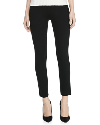 Merino Wool Leggings, Black
