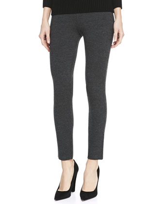 Merino Wool-Blend Leggings, Black