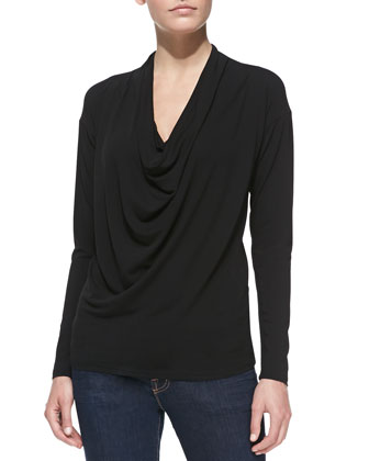 Long-Sleeve Matte Jersey Top