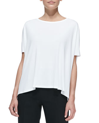 Jersey Scoop-Neck Tunic, White