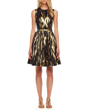 Ikat-Print Bell Dress